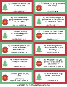 25 Christmas Jokes for Kids (with FREE Printable!) • The Simple Parent