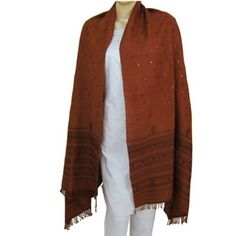 Women Scarves Scarves Wrap Shawl Embroidery Pattern Wool: Amazon.co.uk: Clothing