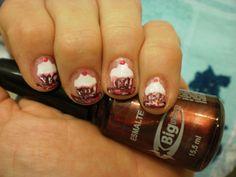 Nail Art Inspirada em cupcakes     Here is a fantastic example of nail art