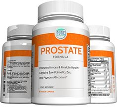 Pure Nutrinex Prostate Formula with Saw Palmetto Zinc  Pygeum Africanum to Support Urinary and Prostate Health *** Click affiliate link Amazon.com on image for more details.