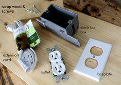 DIY built-in extension outlet