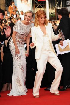 Diane Kruger and Melanie Laurent attend the Inglourious Basterds Premiere held at the Palais Des Festivals during the 62nd International Cannes Film Festival on May 20th, 2009 in Cannes, France