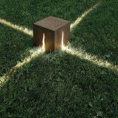 Lampadaire granito 30 cm de arte inoxydable