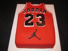 Michael Jordan Jersey Cake Dan Alberto birthday Cake