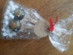 Fudge hot chocolate spoons.  Great little cheap gift or stocking filler for Christmas.