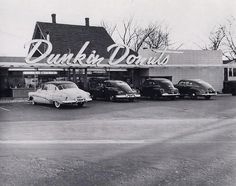 The original Dunkin' Donuts in Quincy, Massachusetts, 1950s.