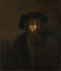 A Bearded Man in a Cap, late 1650s, Rembrandt van Rijn