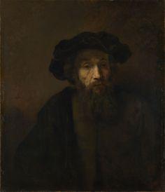 A Bearded Man in a Cap, late 1650s, Rembrandt van Rijn