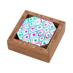 Amy Sia Watercolour Ikat 2 Coaster Set | DENY Designs Home Accessories