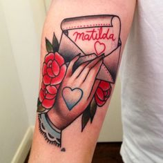 Cassandra Frances. Another cool/old school style love letter tattoo.