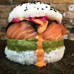 And you might even have heard of sushi burgers, the latest food trending on Instagram. | People Are Making Sushi Food Hybrids And It Is Bonkers