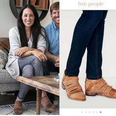 Jo just teased tonight's @fixerupper episode on her @joannagaines Instagram handle wearing @freepeople Lost Valley ankle boots. $178 and…