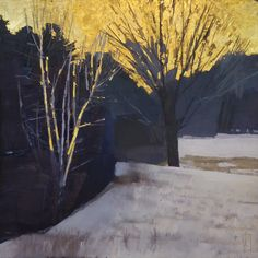 Abstract Landscape, Landscape Paintings, Abstract Art, Landscapes, Plum Island, Black Cow, Street Gallery, Sell Gold, Winter Trees