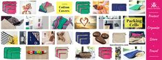 Collage of uses for 100% Cotton Storage Bags and Packing Cells. Handbags, travel, beach, kids items, clothes, ski/sport/gym gear and more. Breathable | Lightweight | Acid-Free | Hygienic. Choose from Individual, Packs and Mix 'n' Match options.