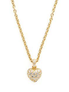 Cartier Diamond Heart Pendant Necklace by Cartier at Gilt