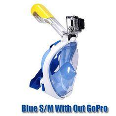 Full Face Anti Fog Snorkeling Mask with GoPro Mount