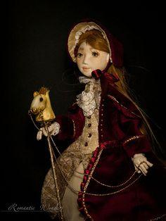 Janette. Handmade textile doll. OOAK by RomanticWonders on Etsy