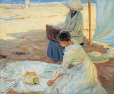 Helen McNicoll, Under the Shadow of the Tent, 1914. Oil on canvas, 83.5 x 101.2 cm. Montreal Museum of Fine Arts.