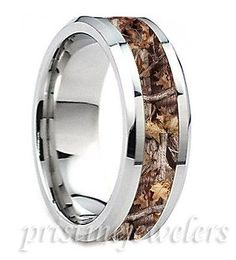 8mm Titanium Mens Wedding Band Comfort Fit Promise Ring Camo Gold Black Silver