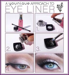 Did you know you can make your own cool eyeliner colors with your Rosewater and Mineral Pigments? Amazing.