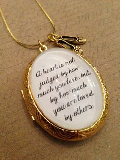Wizard of Oz Book Quote Antique Copper Necklace Oz Heart Quote