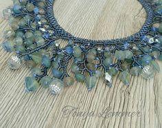 Collana di perline fatti a mano, collana di perline di vetro, seme tallone collana, collana, gioielli di perline, regalo donna, regali per lei, presente