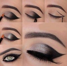 Stunning cut crease winged liner.