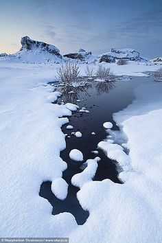 Winter perspective, south-west Iceland.