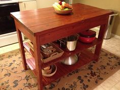 For mom : Ana White | Build a Easy Kitchen Island Plans | Free and Easy DIY Project and Furniture Plans