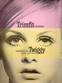 Twiggy TrimFit Stockings sign 1960s