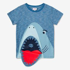 2d19bc083f Shark Zip Tee DUSTY BLUE #3dprinterchildren Kids Pajamas, Kids Boys, Toddler  Boys,