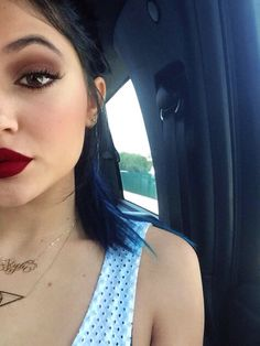 #KylieJenner Red beauty lips