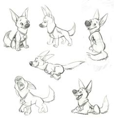 """Bolt"" (2008) Character designs"