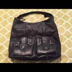 """Kate Spade Handbag (Authentic) Beautiful Kate Spade handbag made of soft leather. It has two pockets on the front with magnetic closure. Gently worn. (13""""h X 15""""l) kate spade Bags Shoulder Bags"""