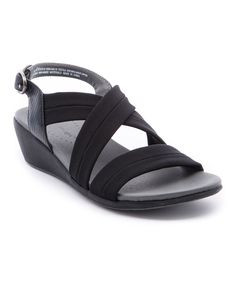 This Black Melly Wedge Sandal - Women by Bareraps is perfect! #zulilyfinds