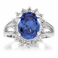 Comparable Kate Middleton Ring: Silver Tone - Light Sapphire