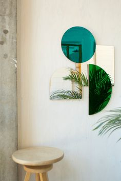Items similar to Modern Mid Century Style Mirrors in Teal, Green and Silver on Etsy Bow Art, Mirror Wall Art, Mirror Mirror, Mid Century Style, Home Decor Trends, Design Museum, Decoration, Home Interior Design, Mirrors