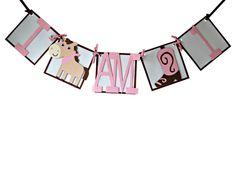 Cowgirl Mini Banner (I am 1)