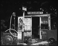 "Roadside Shack with Sign ""Fred Kraft"" by Walker Evans. 1930s. Walker Evans Archives, The Metropolitan Museum of Art."