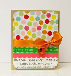 @Kim Kesti created this fun, festive and fabulous card using SRM's new Birthday We've Got Your Boder