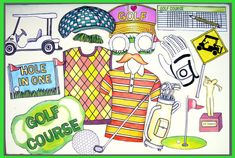golf photo booth props perfect at your golf party, at the golf course or for the golf lover by thepartyevent, $14.99