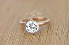 2.05 CT Round Solitaire Engagement Wedding Ring in by Zhedora