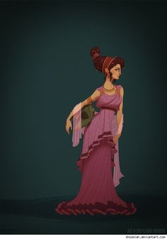 Megara (Meg) from Hercules in proper Ancient Greek attire by Claire Hummel.