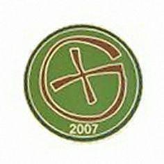 Geocaching / Geocoin lapel pin: Geocaching Symbol 2007, brown