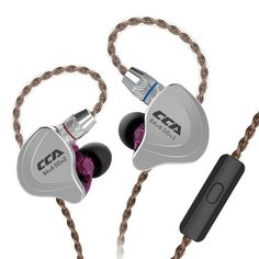 HiFi Five Drivers Hybrid In Ear earphones, Zinc Alloy Shell CCA High Resolution In Ear Monitors/Headphones/Earbuds with Gold Plated Detachable Cable, (Black with mic) Sport Earbuds, Sports Headphones, In Ear Headphones, In Ear Monitors, Headphone With Mic, Ear Plugs, Noise Cancelling, Headset, Cable