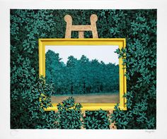 Rene Magritte, La cascade (The Waterfall Rene Magritte  ( 1898 - 1967 ) More At FOSTERGINGER @ Pinterest