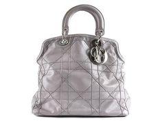 BAG, DIOR,  Granville Tote, ljusgråt leather, details in vitmet 32x30x13cm, detachable shoulder strap, Marked 18-MA-0160, dustbag. #dior #bag #granvilletote