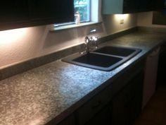 Galvanized Steel Countertop With Composite Granite Sink. | Flickr