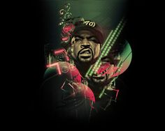ICE CUBE | ice cube - rappers illustrations - west coast gangsta