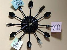 Manualidades y Artesanías | Reloj con cubiertos| Utilisima.com